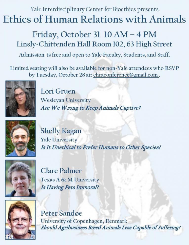Yale animal ethics conference