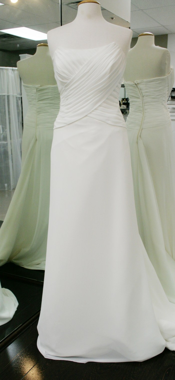 Charlotte: Drapped wedding dress one