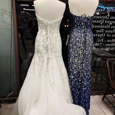 New wedding dresses and evening gowns