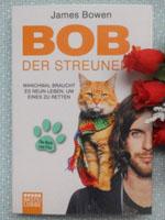 Buchcover des autobiografischen Romans Bob der Streuner