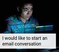 I would like to start an email conversation