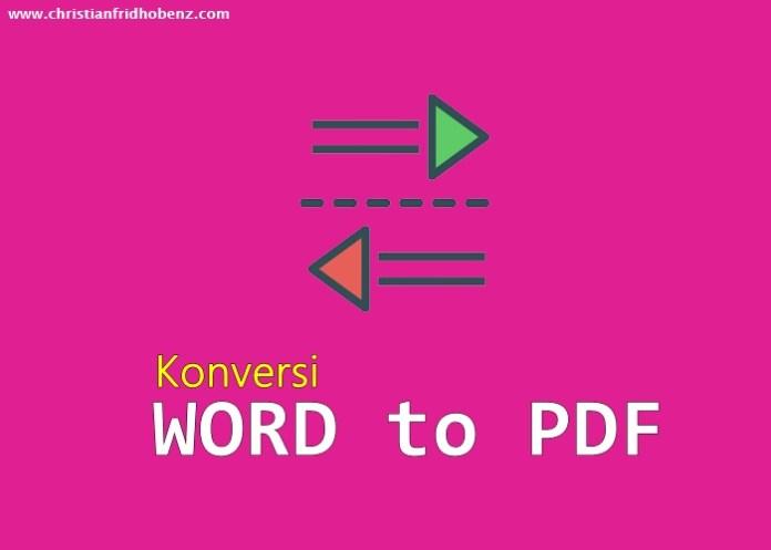 Ubah File Word ke PDF