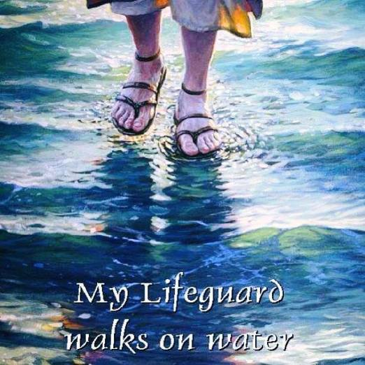 Image result for my savior walks on water