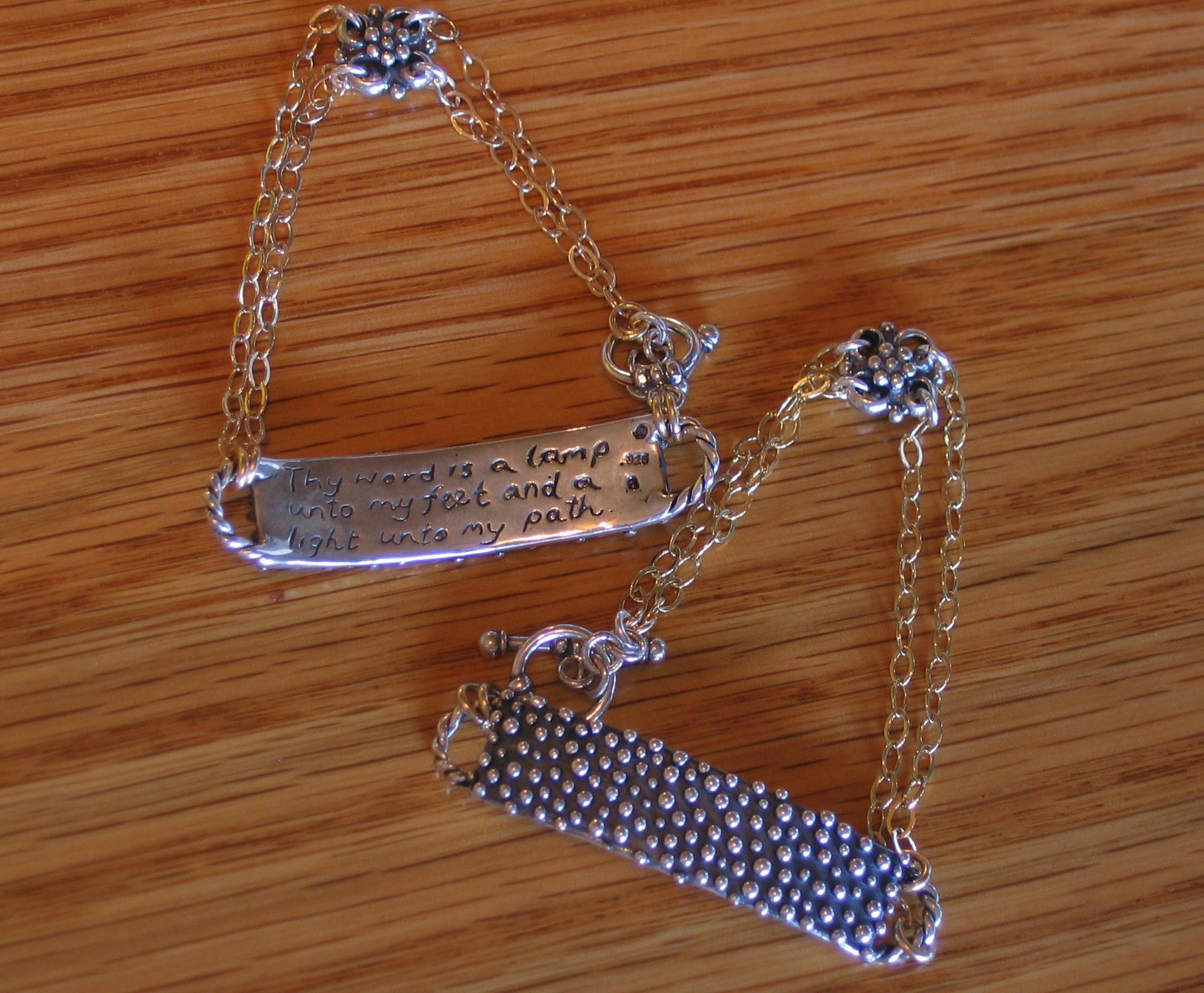 Dew Drop Bracelet with Scripture