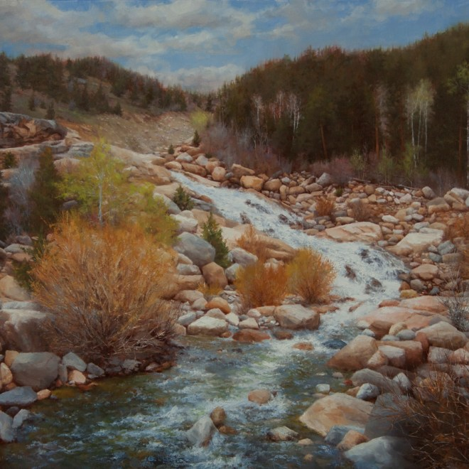 Oil painting entitled Alluvial Fan, by artist Christian Hemme.