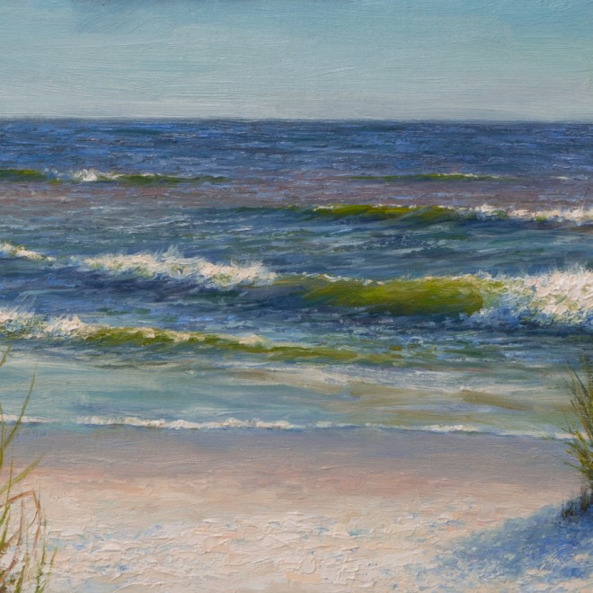 Oil painting entitled Gulf Coast Winter, by artist Christian Hemme.