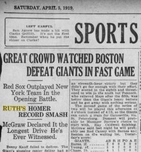 Babe Ruth Home Run