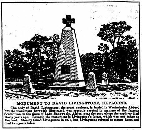 Monument to david livingstone