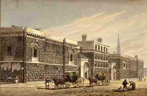 Newgate West View of Newgate by George Shepherd 1784 1862 edited
