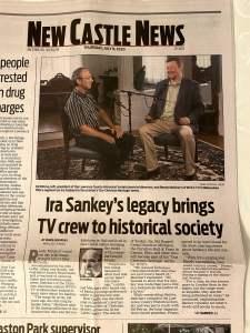New Castle News - Ira Sankey