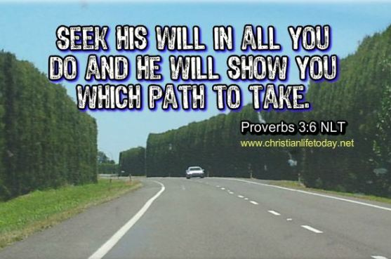Proverbs 3 verse 6
