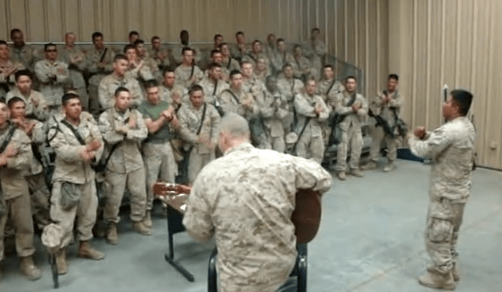 Marines singing praise and worship