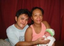 Erlie Edan and Dexter Buo with son Diesmond, born 5/28/14