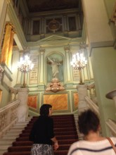 Stairs leading up to the exclusive club of the Opera house.