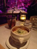 My tasty French onion soup from the Beat Hotel