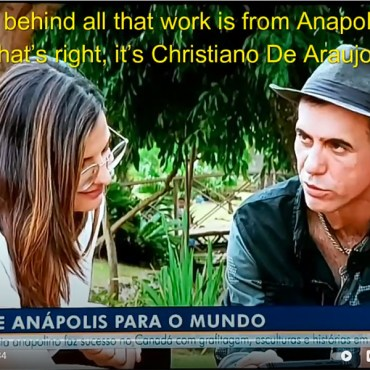 Christiano was featured on the Jornal Anhaguera – Brazilian T.V. – English Subtitles – Click on the image to watch it!