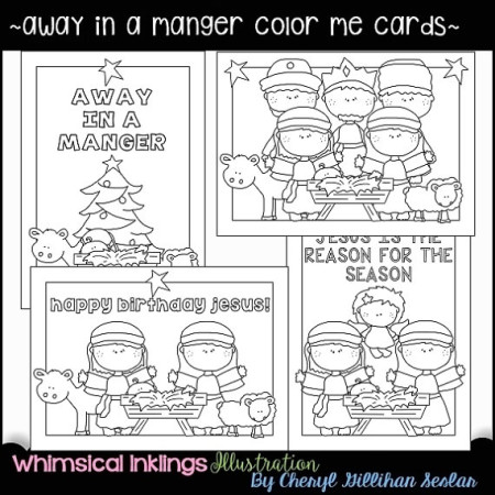 Christian Christmas cards coloring crafts kids