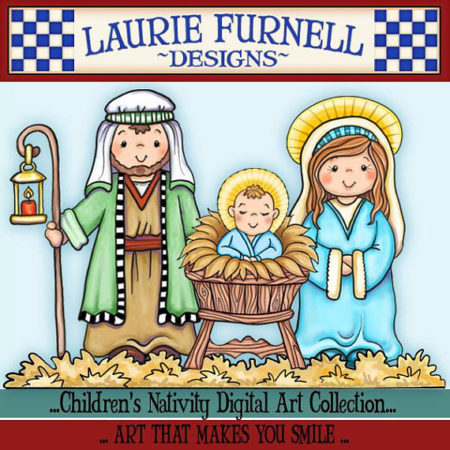 Kids Christian Christmas clip art pictures