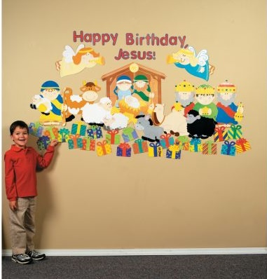 Christmas Birthday party Jesus wall decorations