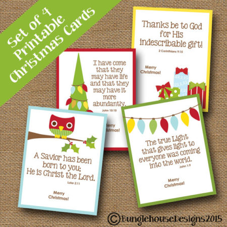 Printable Christian Christmas cards for kids