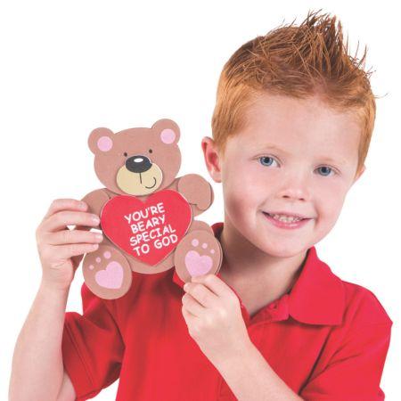 12 Religious Bear Sunday school Valentines day crafts