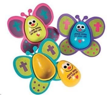 DIY Religious Butterfly Easter eggs