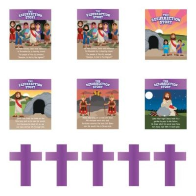 Story of Easter Resurrection banner decorating kit