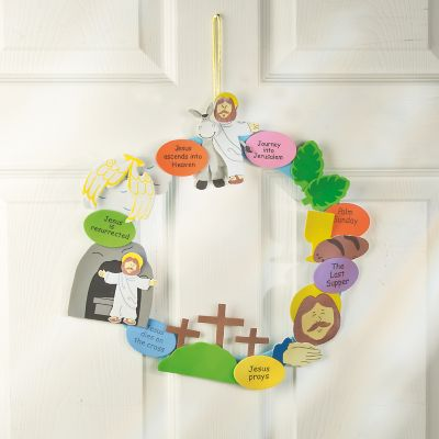 DIY life of Christ Easter week wreaths