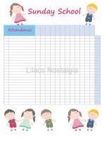 Download Sunday school classroom attendance chart
