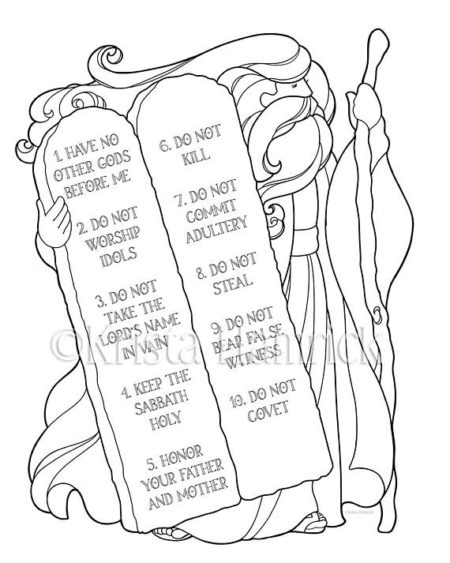 10 Commandments Craft, Biblical Moses Craft Ideas