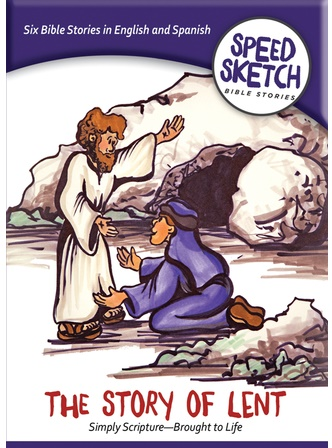 6 Bible stories Lent Season cartoon with coloring pages