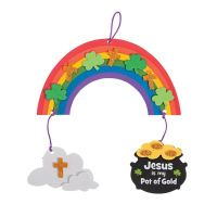 Saint Patrick's Day Jesus pot of gold rainbow crafts