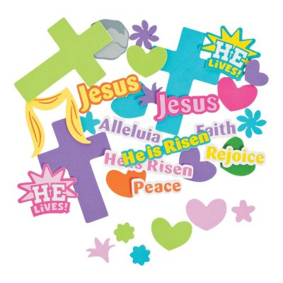 520 Christian Easter Foam craft stickers