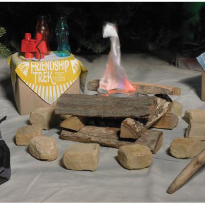 Bible Camp campfire indoor display