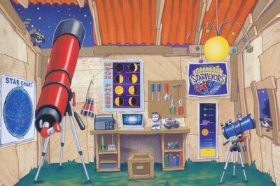 Vacation Bible school Galaxy room scene setter