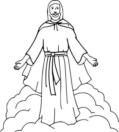 Jesus Christ coloring picture