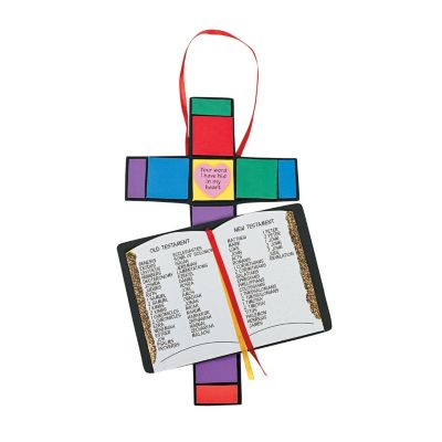 Bible Cross with Holy Bible books craft