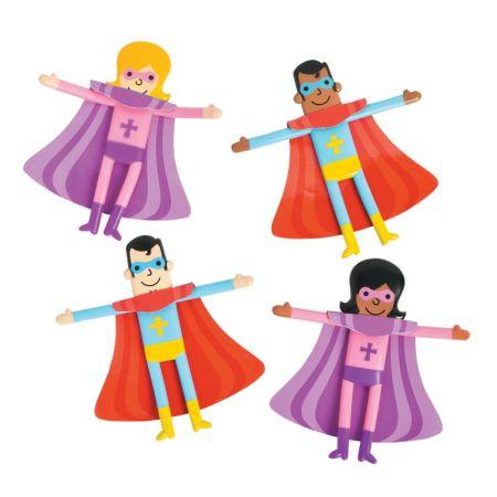 Religious Super hero mini figurines