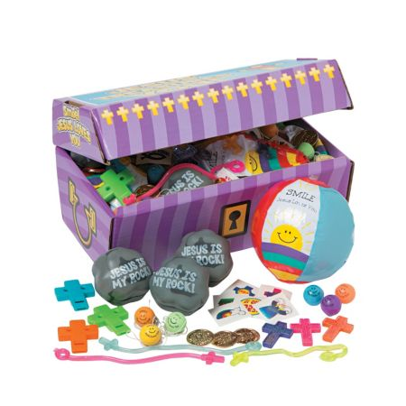 christian treasure chest and prizes