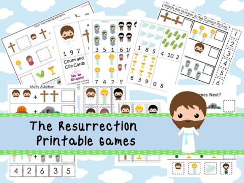 30 Christian Easter Resurrection Download Games and activity Pack
