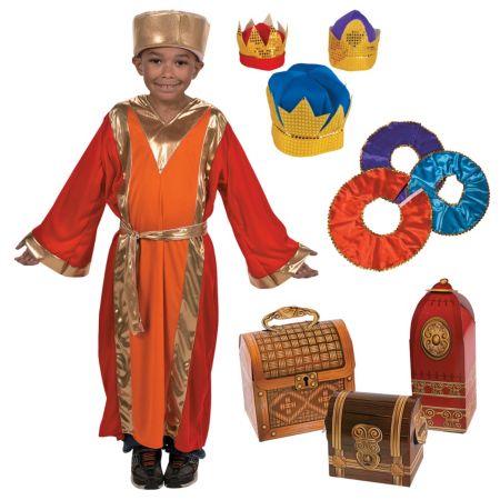 Kids Nativity Wisemen play accessories costumes kids