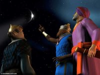 Animated 3 Wise Men follow Christmas star download