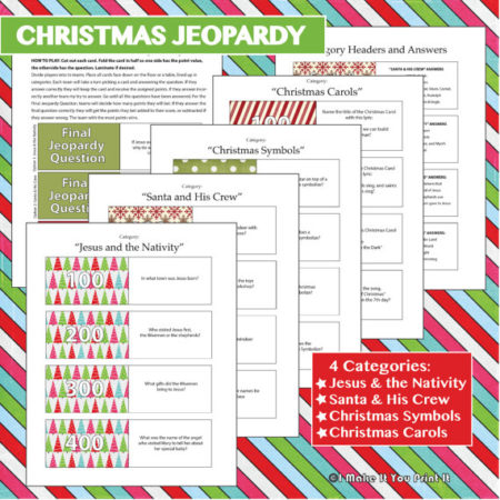 Printable Christmas games for parties