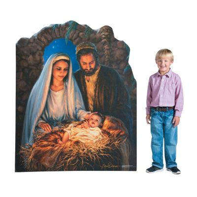 Family Christmas Party Ideas Decorations Christian Nativity Scene Prop