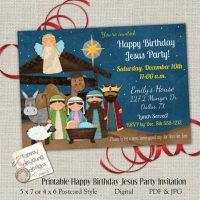 Jesus Birthday Party invitation download