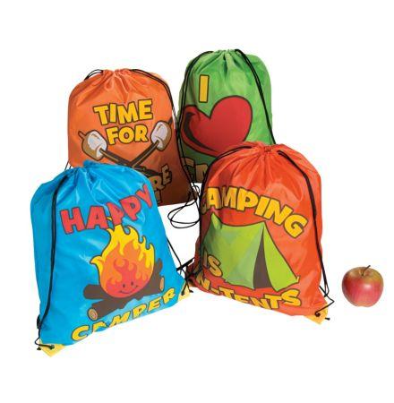 12 I love camp drawstring backpacks