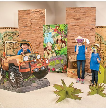 Safari Sunday school room decorating kit