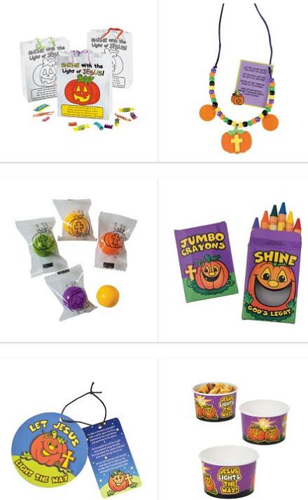 Christian Halloween pumpkin prayer giveaways