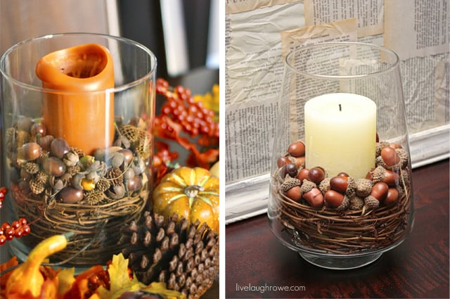 Diy Thanksgiving Decoration 6 Colored Jars