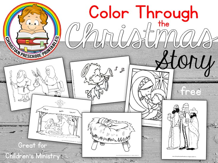 Nativity Scene Bible Coloring Pages Christian Preschool Printables